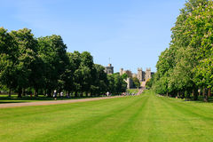 Long Walk of Windsor Castle Royalty Free Stock Photos