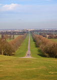 The Long Walk and Windsor Castle in Winter Royalty Free Stock Images