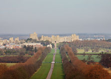 The Long Walk and Windsor Castle in Winter Stock Photos