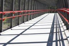 Long Walking Bridge. This is a path to mt cootha garden, popular tourist destination in Brisbane, Australia stock images
