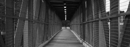 Long Walking bridge Royalty Free Stock Images