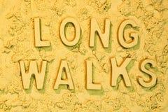 Long Walks Royalty Free Stock Image