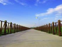 Long walkway Royalty Free Stock Images