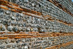 A long stone historical wall royalty free stock photography