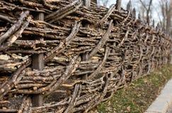 Long wattle fence Stock Image