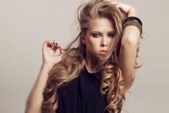 Long Wavy Hair Royalty Free Stock Photography