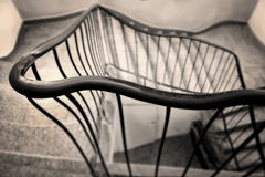 Long way home. Going home after party. Troubles inside of the staircase Royalty Free Stock Photos