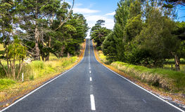 Long straight road Stock Images