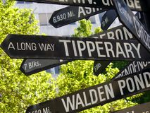 A Long way to Tipperary direction street sign. Stock Image