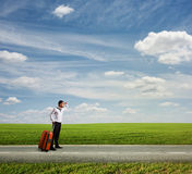 The long way to vacation Royalty Free Stock Photo
