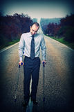 Long way to walk Royalty Free Stock Photo