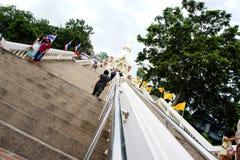 Long way to worship at Huahin Thailand Stock Photos