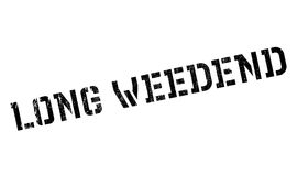 Long Weedend rubber stamp Stock Photo