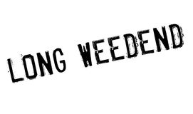 Long Weedend rubber stamp Royalty Free Stock Image