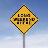 Long Weekend Ahead. Conceptual road sign indicating Long Weekend Ahead Royalty Free Stock Photography