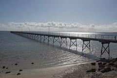 Long wharf. At Ceduna, south Australia royalty free stock images