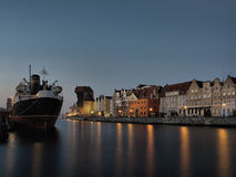 Long Wharf in Gdansk, Poland. Long Wharf on the morning in Gdansk, Poland Stock Photography