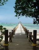 Long wharf over coral bay Royalty Free Stock Image