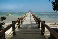 Long wharf over coral bay Royalty Free Stock Photo