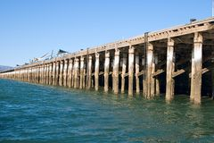 long Wharf at port augusta Stock Image