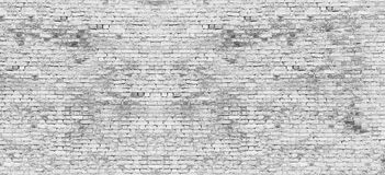 Long white brick wall Royalty Free Stock Photography