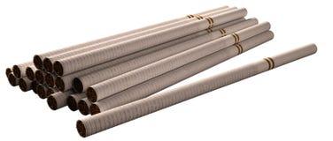 Long white Cigarettes. Long white lady cigarettes isolated on white background stock illustration