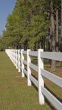 Long White Fence Stock Image