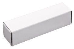 Long white paper box. Stock Images