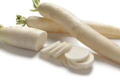 Long white Radish Royalty Free Stock Photography