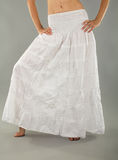 Long White Skirt Royalty Free Stock Photo