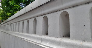 Long white temple wall Royalty Free Stock Image