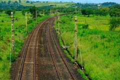 Long winded rail tracks Stock Photos