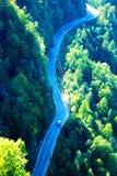 Long winding mountain road royalty free stock photo