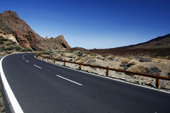 Long winding road. Through the mountains Royalty Free Stock Photos