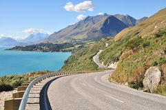 The long and winding road Stock Image