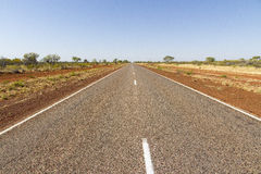 Long and winding road in Australia Stock Photography