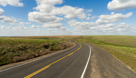 Long Winding Road Cury into The Distance Vanishing Point Royalty Free Stock Images
