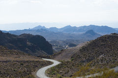 Long Winding Road In Death Valley Stock Image