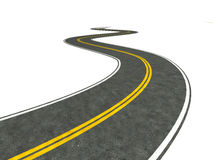 Long winding road illustration Royalty Free Stock Photos