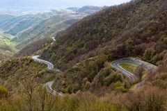Long Winding Road Through Mountains Royalty Free Stock Photo
