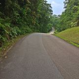 Long winding hilly road Royalty Free Stock Photo