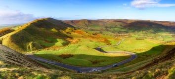 Winnat Pass winding road Peak district UK Royalty Free Stock Image