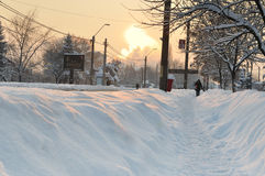 Long winter continue in Europe Royalty Free Stock Photography