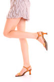 Long woman legs Stock Photography