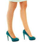 Long woman legs Stock Photo