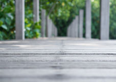 Long wood bridge in mangrove forest, Chanthaburi,Thailand Stock Photography