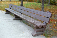 Long wooden bench Royalty Free Stock Photo