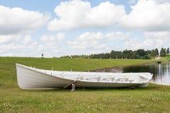 Long wooden boat Stock Photos