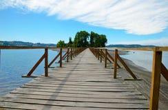 Free Long Wooden Bridge To The Island Aucar Stock Photo - 68549660