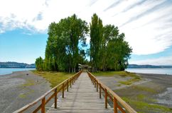 Free Long Wooden Bridge To The Island Aucar Royalty Free Stock Image - 68549686
